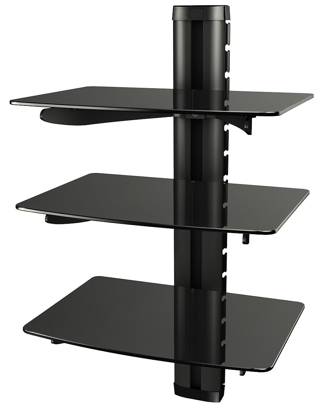 dvd regal glas wand glasregal hifi wandboard halterung ebay. Black Bedroom Furniture Sets. Home Design Ideas
