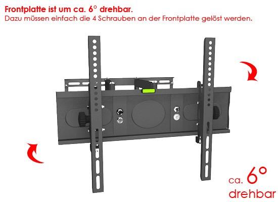 LCD LED TV Wandhalterung Schwenkbar Wandhalter  ~ Fernseher Wand Optimale Höhe