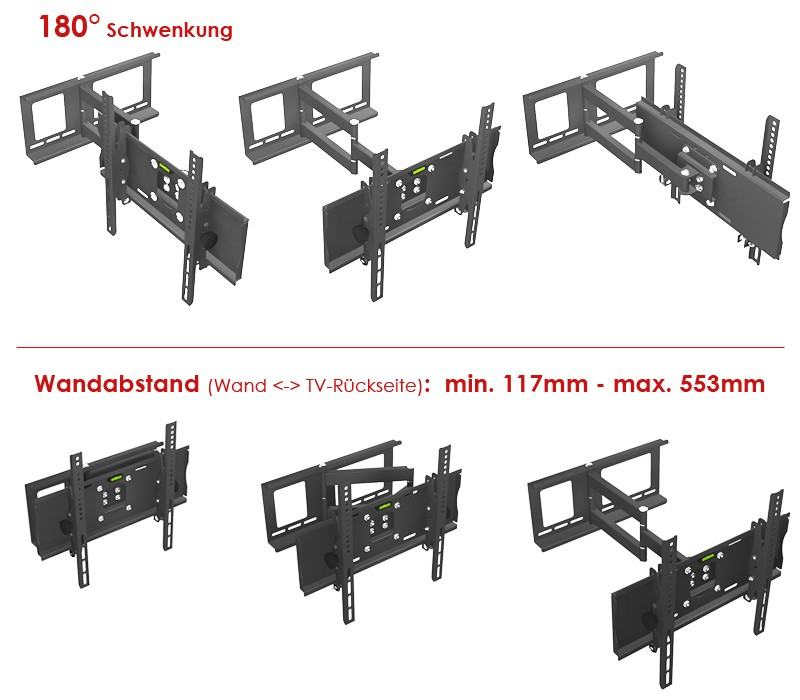 lcd led wandhalterung passt f r sony kdl 46ex505. Black Bedroom Furniture Sets. Home Design Ideas
