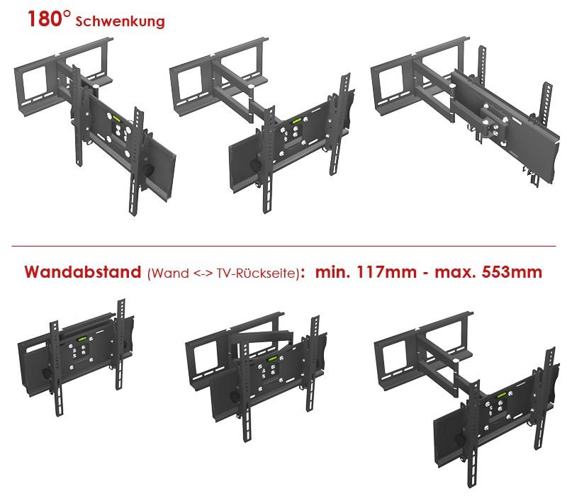 fernsehhalter fernseher halterung lcd halterungen flach bildschirm wandhalter. Black Bedroom Furniture Sets. Home Design Ideas