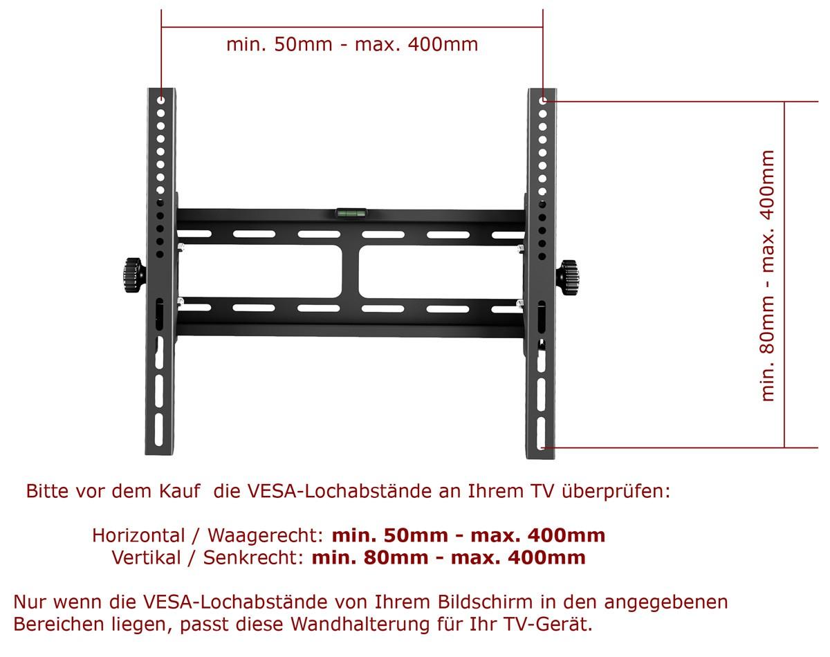 Wandhalterung für TV LED LCD oder Plasma ca. 66-165cm / 26