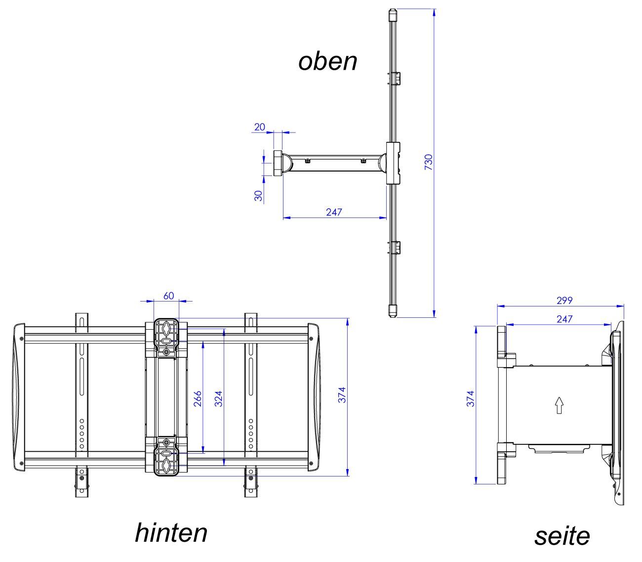 elektrische wandhalterung tv motorisiert elektrisch. Black Bedroom Furniture Sets. Home Design Ideas