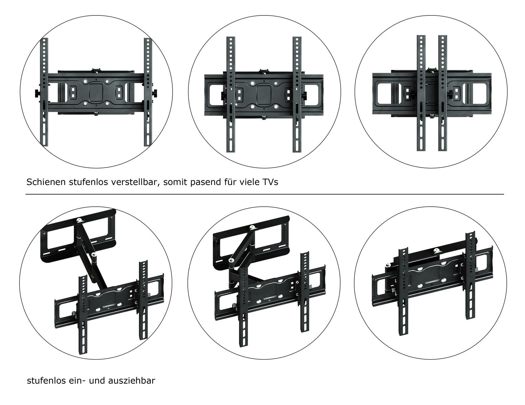 lcd tv wand halter fernsehhalterung flachbild fernseher wandhalterung plasma ebay. Black Bedroom Furniture Sets. Home Design Ideas