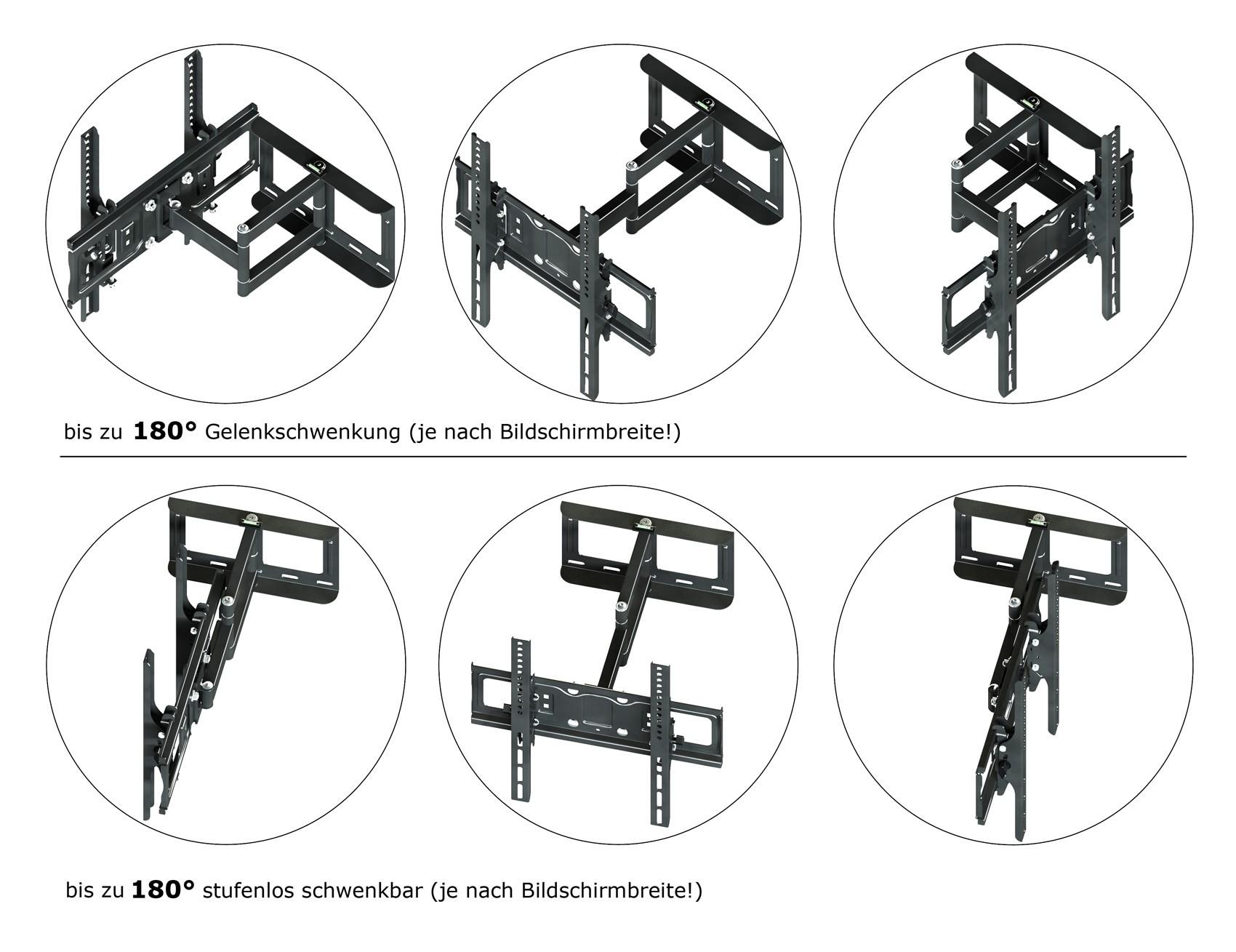 led fernseher schwenkarm tv halterung wand halterung 32 40 42 46 47 50 55 zoll. Black Bedroom Furniture Sets. Home Design Ideas