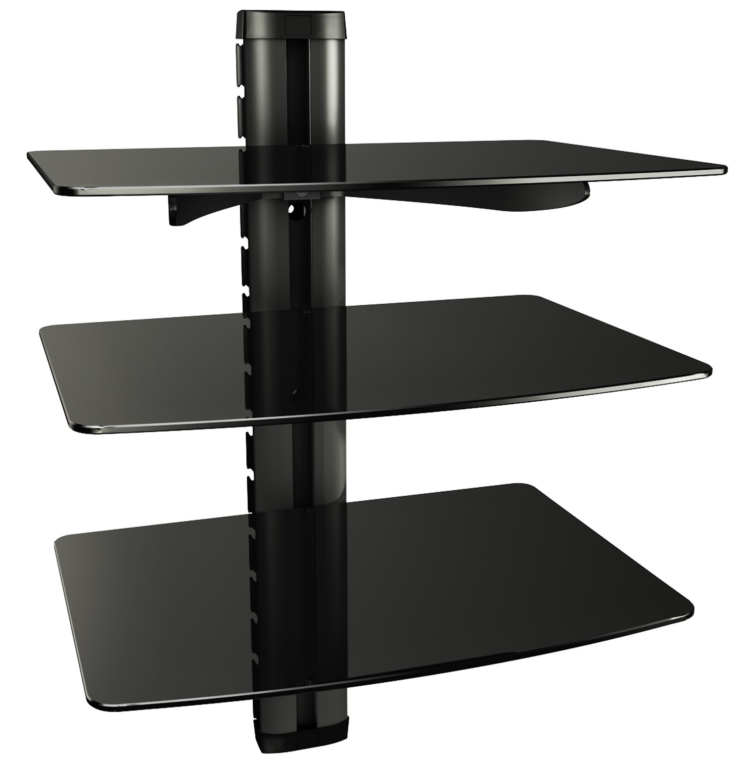 glas regal hifi wandhalterung dvd glasregal wand board xl 11175. Black Bedroom Furniture Sets. Home Design Ideas