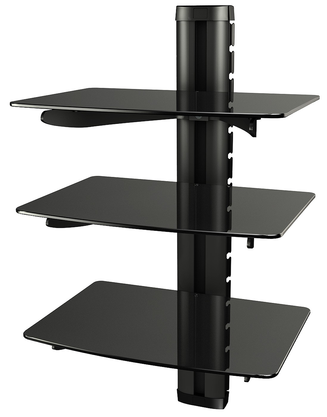 dvd regal glas wand glasregal hifi wandboard halterung 11176. Black Bedroom Furniture Sets. Home Design Ideas