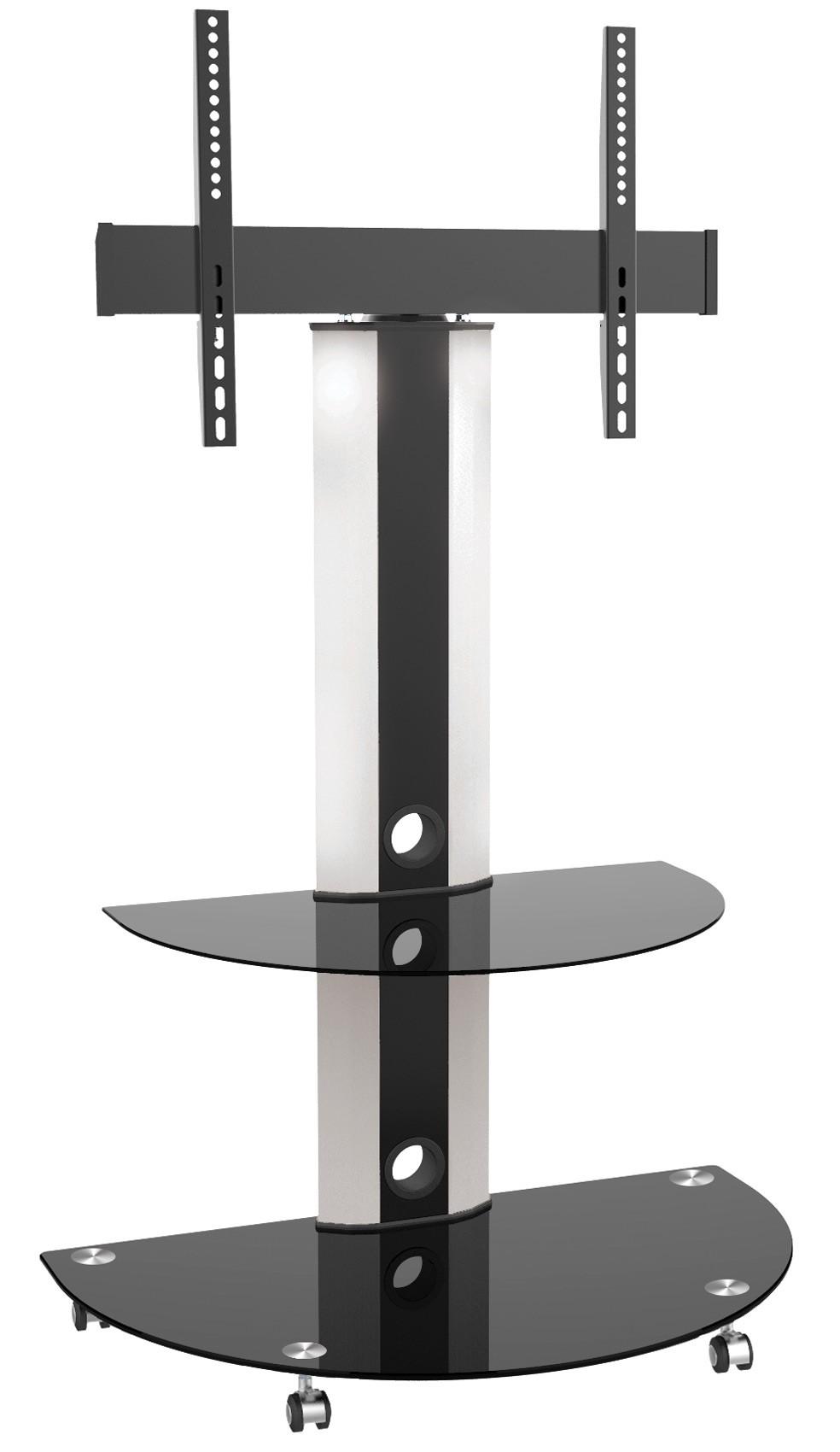 tv stand modern und schwenkbar mit glas ablagen fs0502 11185. Black Bedroom Furniture Sets. Home Design Ideas