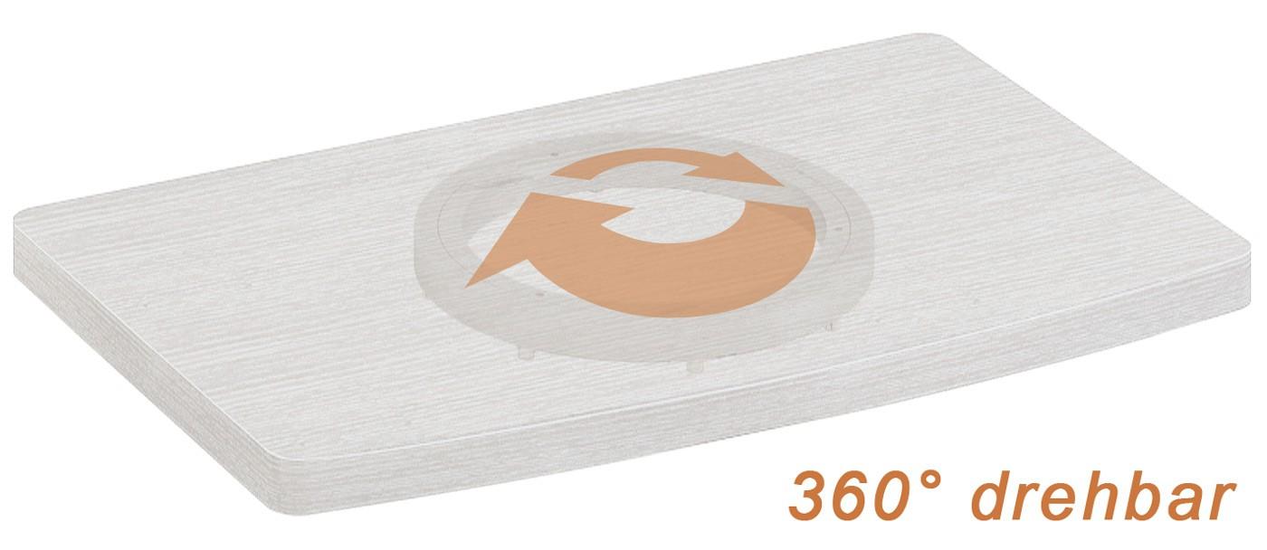 Tv drehbar 360° Drehbarer TV Untersatz Drehteller 360° drehbar FS053 11188