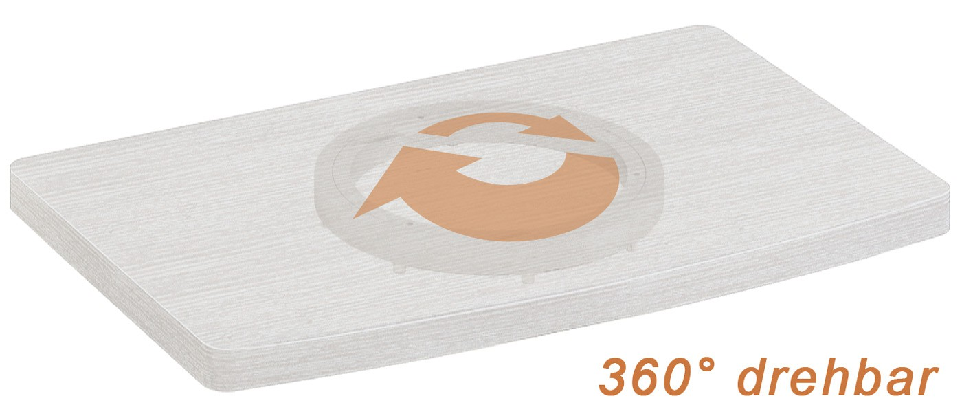 Drehbarer TV Untersatz Drehteller 360° drehbar FS053 – Bild 4