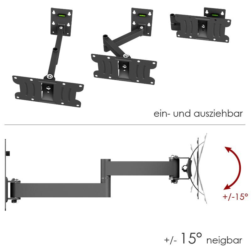 halterung f r lcd fernseher schwenkbar monitor r02 21 10581. Black Bedroom Furniture Sets. Home Design Ideas